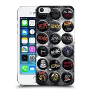 Official Ac/Dc Acdc Button Pins Songs Hard Back Case For Apple Iphone 5 / 5S / Se