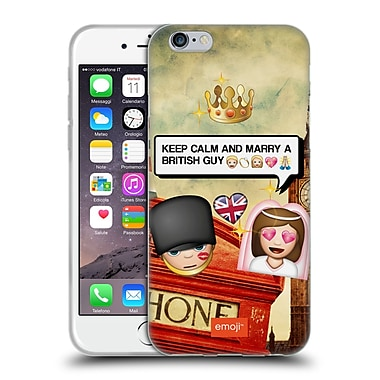 Official Emoji Photo Graphic British Guy Soft Gel Case For Apple Iphone 6 / 6S