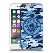 Official Manchester City Man City Fc Badge Camou Blue Moon Mono Soft Gel Case For Apple Iphone 6 / 6S