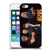 Official Ac/Dc Acdc Group Photo Band Studio Shot Soft Gel Case For Apple Iphone 5 / 5S / Se