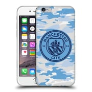 Official Manchester City Man City Fc Badge Camou Light Blue Moon Mono Soft Gel Case For Apple Iphone 6 / 6S