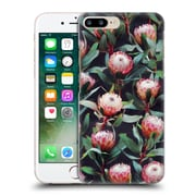 Official Micklyn Le Feuvre Florals 2 Evening Proteas Pink On Charcoal Hard Back Case For Apple Iphone 7 Plus