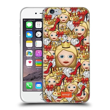 Official Emoji Full Patterns Queen Soft Gel Case For Apple Iphone 6 / 6S