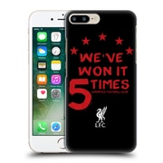 Official Liverpool Football Club Won 5 Times Black 2 Hard Back Case For Apple Iphone 7 Plus