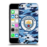 Official Manchester City Man City Fc Badge Camou Blue Moon Soft Gel Case For Apple Iphone 5C