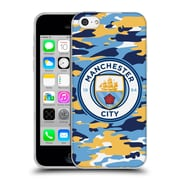 Official Manchester City Man City Fc Badge Camou Club Soft Gel Case For Apple Iphone 5C