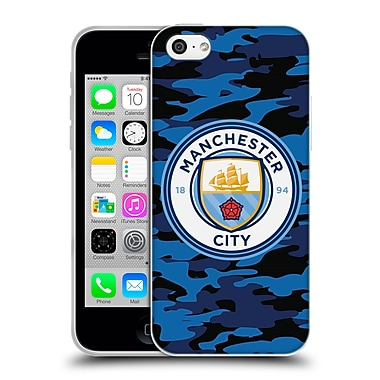 Official Manchester City Man City Fc Badge Camou Dark Blue Moon Soft Gel Case For Apple Iphone 5C