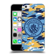 Official Manchester City Man City Fc Badge Camou Club Mono Soft Gel Case For Apple Iphone 5C
