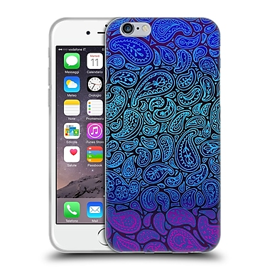 Official Micklyn Le Feuvre Patterns 3 Purple Paisley Soft Gel Case For Apple Iphone 6 / 6S