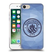 Official Manchester City Man City Fc Badge Geometric Blue Obsidian Mono Soft Gel Case For Apple Iphone 7