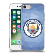 Official Manchester City Man City Fc Badge Geometric Blue Full Colour Soft Gel Case For Apple Iphone 7