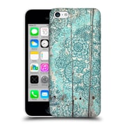 Official Micklyn Le Feuvre On Wood Teal And Aqua Botanical Doodle On Weathered Hard Back Case For Apple Iphone 5C
