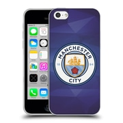 Official Manchester City Man City Fc Badge Geometric Obsidian Full Colour Soft Gel Case For Apple Iphone 5C