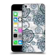 Official Micklyn Le Feuvre On Wood Shabby Chic Navy Blue Doodles Hard Back Case For Apple Iphone 5C