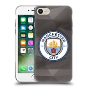 Official Manchester City Man City Fc Badge Geometric Black Full Colour Soft Gel Case For Apple Iphone 7