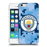 Official Manchester City Man City Fc Digital Camouflage Bluemoon Hard Back Case For Apple Iphone 5 / 5S / Se