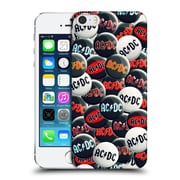 Official Ac/Dc Acdc Button Pins Black And White Hard Back Case For Apple Iphone 5 / 5S / Se