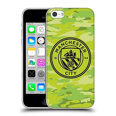 Official Manchester City Man City Fc Badge Camou Goalee Mono Soft Gel Case For Apple Iphone 5C