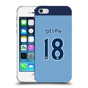 Official Manchester City Man City Fc Player Home Kit 2016/17 Group 1 Delph Soft Gel Case For Apple Iphone 5 / 5S / Se