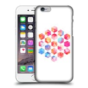 Official Micklyn Le Feuvre Hexagon Patterns Radiant Geometric Watercolour Painting Hard Back Case For Apple Iphone 6 / 6S