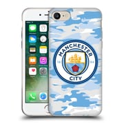 Official Manchester City Man City Fc Badge Camou Light Blue Moon Soft Gel Case For Apple Iphone 7