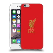 Official Liverpool Football Club Liver Bird Gold Logo On Red Soft Gel Case For Apple Iphone 6 / 6S