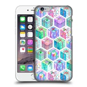 Official Micklyn Le Feuvre Holiday Patterns Christmas Hexagons Watercolour Gift Boxes Hard Back Case For Apple Iphone 6 / 6S