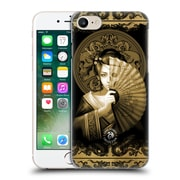 Official Anne Stokes Oriental Skull Geisha Sepia Hard Back Case For Apple Iphone 7