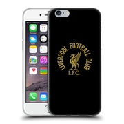 Official Liverpool Football Club Liver Bird Gold Lfc On Black Soft Gel Case For Apple Iphone 6 / 6S