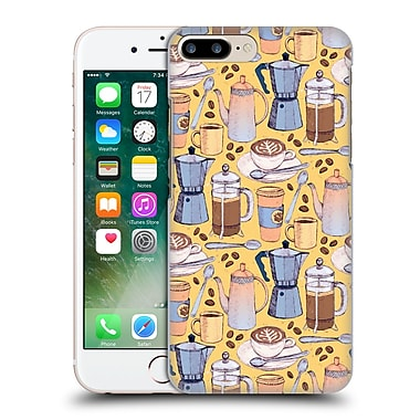 Official Micklyn Le Feuvre Patterns 2 Coffee Love On Yellow Hard Back Case For Apple Iphone 7 Plus