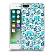 Official Micklyn Le Feuvre Patterns 2 Dusty Pink White And Teal Elephant Hard Back Case For Apple Iphone 7 Plus