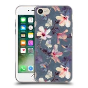 Official Micklyn Le Feuvre Florals Butterflies And Hibiscus Soft Gel Case For Apple Iphone 7
