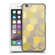 Official Micklyn Le Feuvre Hexagon Patterns Lemon And Grey Honeycomb Hard Back Case For Apple Iphone 6 / 6S