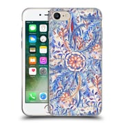 Official Micklyn Le Feuvre Florals Burst In Blue And Red Soft Gel Case For Apple Iphone 7