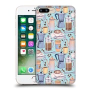Official Micklyn Le Feuvre Patterns 2 Coffee Love On Blue Hard Back Case For Apple Iphone 7 Plus