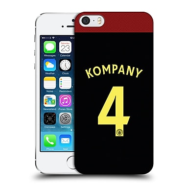 Official Manchester City Man City Fc Away Kit 2016/17 1 Kompany Hard Back Case For Apple Iphone 5 / 5S / Se