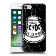 Official Ac/Dc Acdc Logo White Bell Hard Back Case For Apple Iphone 7