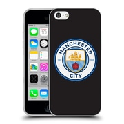 Official Manchester City Man City Fc Badge Black Full Colour Soft Gel Case For Apple Iphone 5C