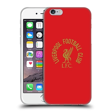 Official Liverpool Football Club Liver Bird Gold Lfc On Red Soft Gel Case For Apple Iphone 6 / 6S