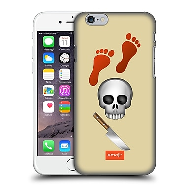 Official Emoji Movies And Series Red Footprints Hard Back Case For Apple Iphone 6 / 6S
