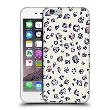 Official Micklyn Le Feuvre Patterns Navy And Coral Crystals Soft Gel Case For Apple Iphone 6 / 6S