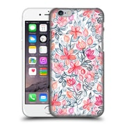 Official Micklyn Le Feuvre Floral Patterns 2 Coral And Grey Candy Striped Crayon Hard Back Case For Apple Iphone 6 / 6S