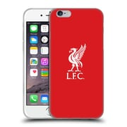 Official Liverpool Football Club Liver Bird White Logo In Red Soft Gel Case For Apple Iphone 6 / 6S