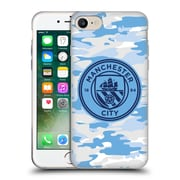 Official Manchester City Man City Fc Badge Camou Light Blue Moon Mono Soft Gel Case For Apple Iphone 7