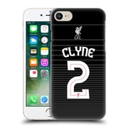 Official Liverpool Football Club Shirt New Away Shirt Black Clyne Hard Back Case For Apple Iphone 7
