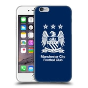 Official Manchester City Man City Fc Crest Full White On Obsidian Blue Soft Gel Case For Apple Iphone 6 / 6S