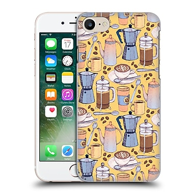 Official Micklyn Le Feuvre Patterns 2 Coffee Love On Yellow Hard Back Case For Apple Iphone 7