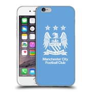 Official Manchester City Man City Fc Crest Full White On Sky Blue Soft Gel Case For Apple Iphone 6 / 6S