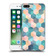 Official Micklyn Le Feuvre Hexagon Patterns Soft Blue Pink Peach And Aqua Hard Back Case For Apple Iphone 7 Plus