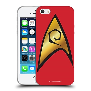 Official Star Trek Uniforms And Badges Tos Operations Solo Soft Gel Case For Apple Iphone 5 / 5S / Se